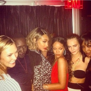 Celebrity Instagram photos at Mercedes-Benz NYFW SS15