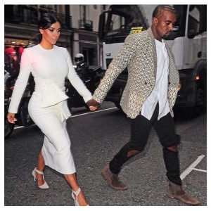 Kanye West and Kim Kardashian invade Paris Fashion Week
