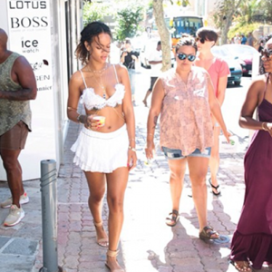 Street style: Rihanna's hits the streets of Capri, Italy