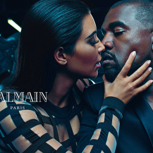 Kim Kardashian and Kanye West star in sexy Balmain menswear campaign