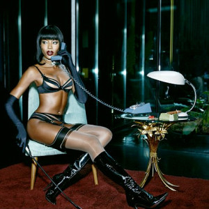 Naomi Campbell for Agent Provocateur's SS15 campaign
