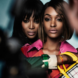 Naomi Campbell and Jourdan Dunn get cozy in Burberry's Spring 2015 Campaign