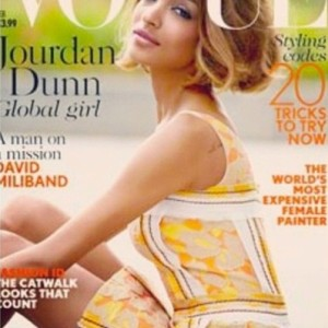 Jourdan Dunn makes history with British 'Vogue'