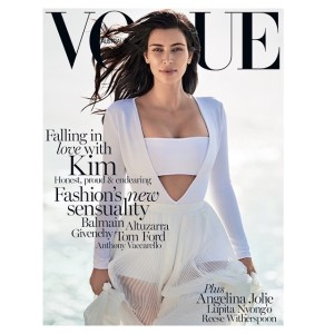 First look: Kim Kardashian lands first solo 'Vogue' cover