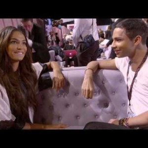 Olivier Rousteing goes head to head with Joan Smalls